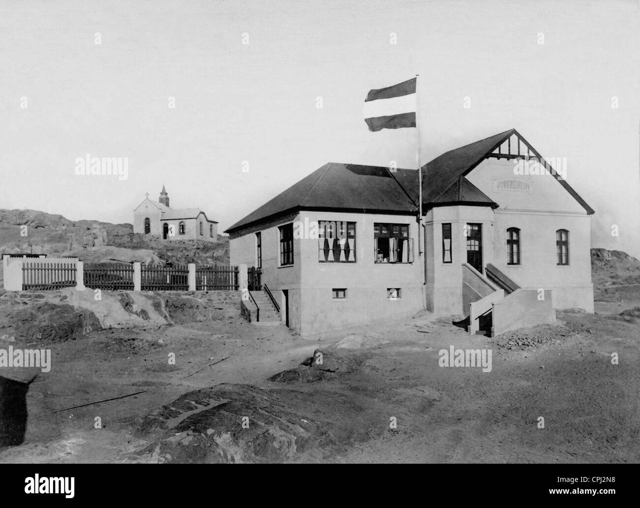 Youth home in Luderitz in German Southwest Africa, 1918 - Stock Image