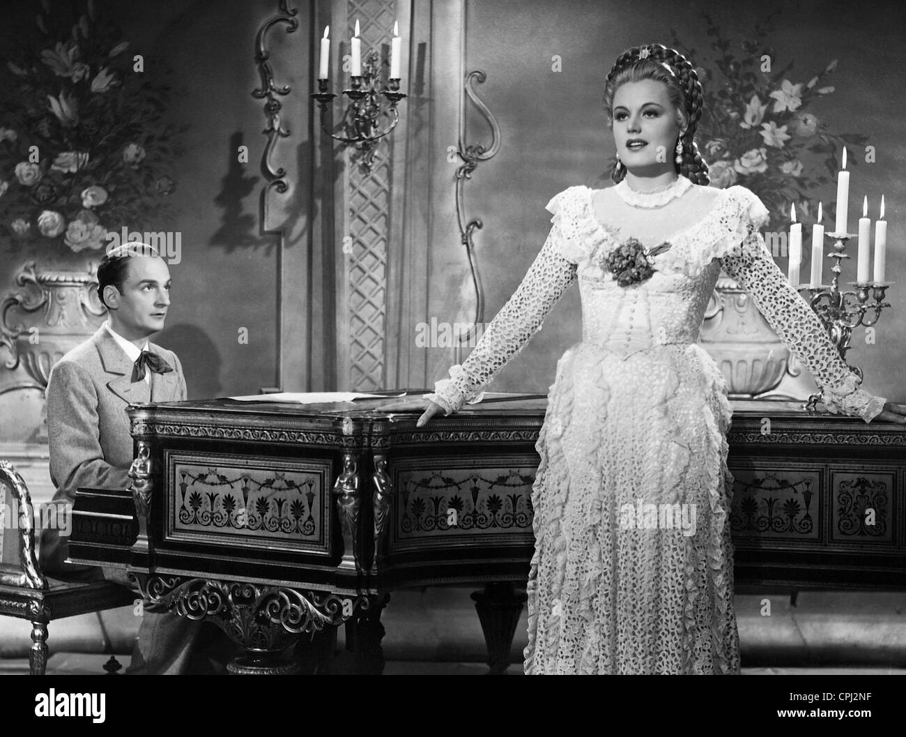 Willi Forst and Maria Holst in 'Operette', 1940 - Stock Image