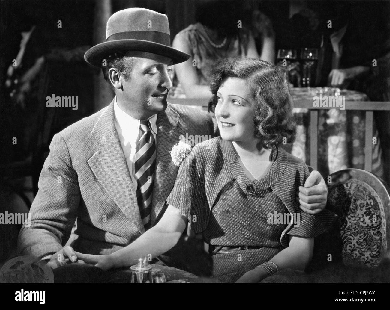 Hans Albers and Martha Eggerth in 'The daredevil', 1931 - Stock Image