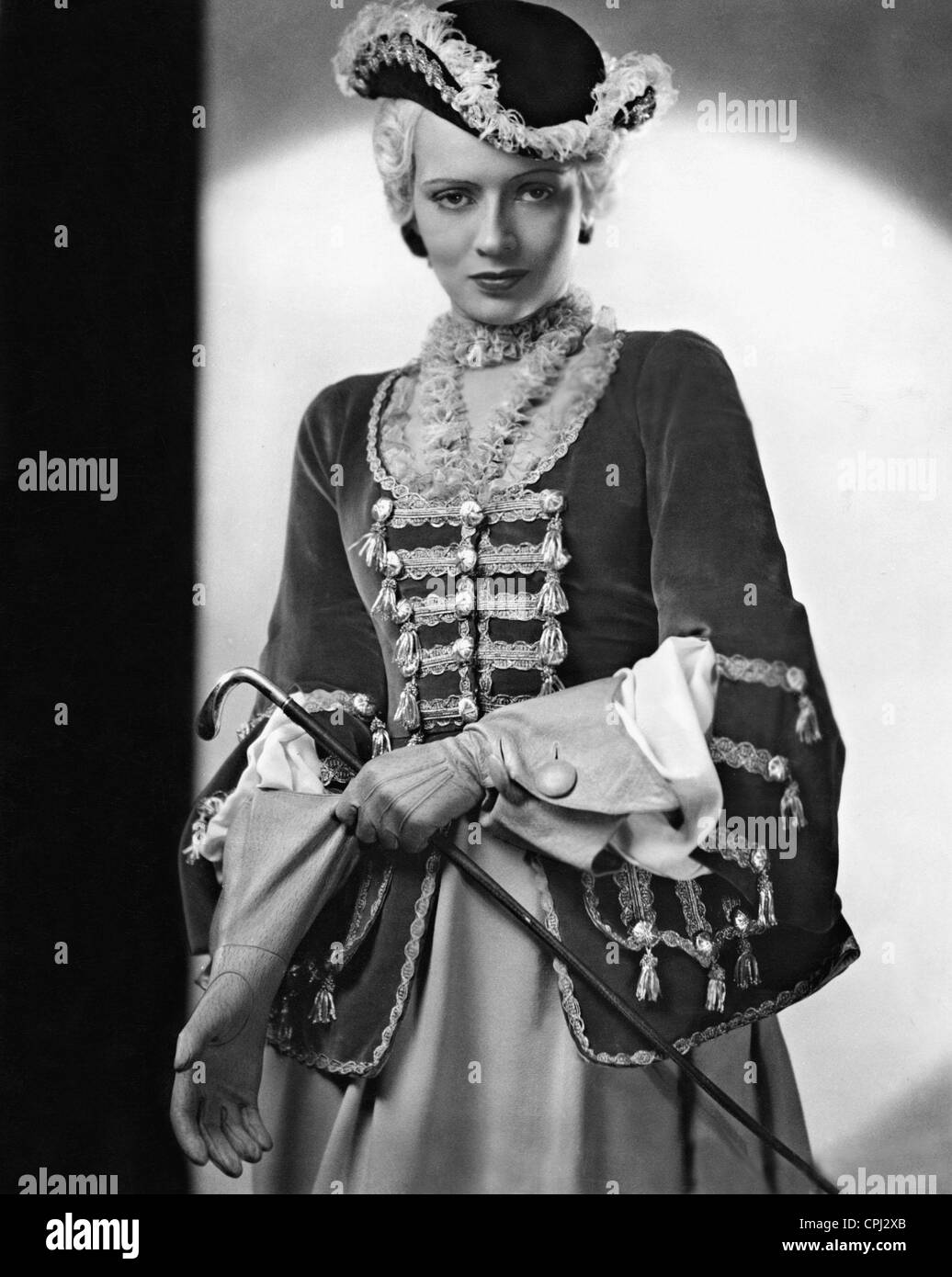 Gina Falckenberg in 'The Gypsy Baron', 1935 - Stock Image