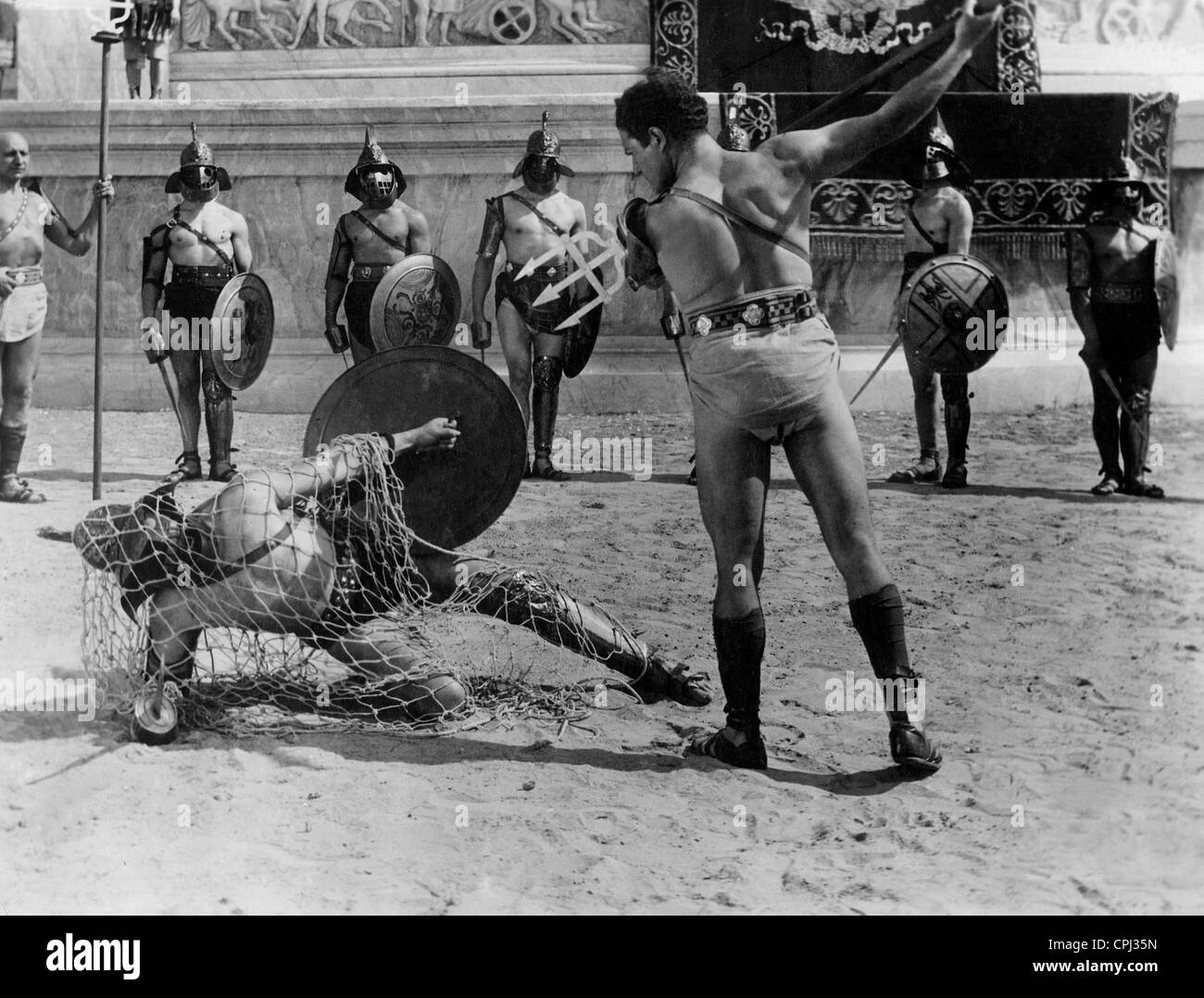 Gladiator fight in ancient Rome - Stock Image