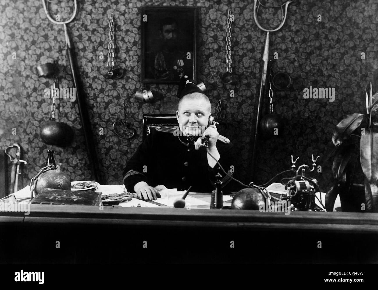 Movie scene with Harald Madsen - Stock Image