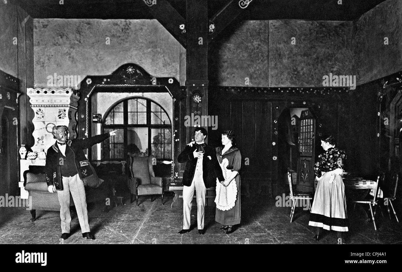 The premiere of the operetta 'The Gypsy Virtuoso', 1913 - Stock Image