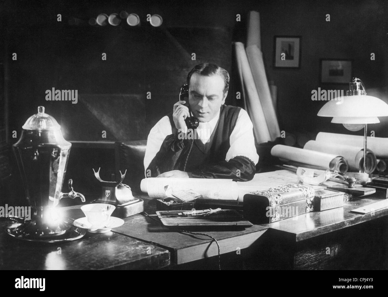 Paul Hartmann in 'F. P.1 Doesn't Answer', 1932 - Stock Image