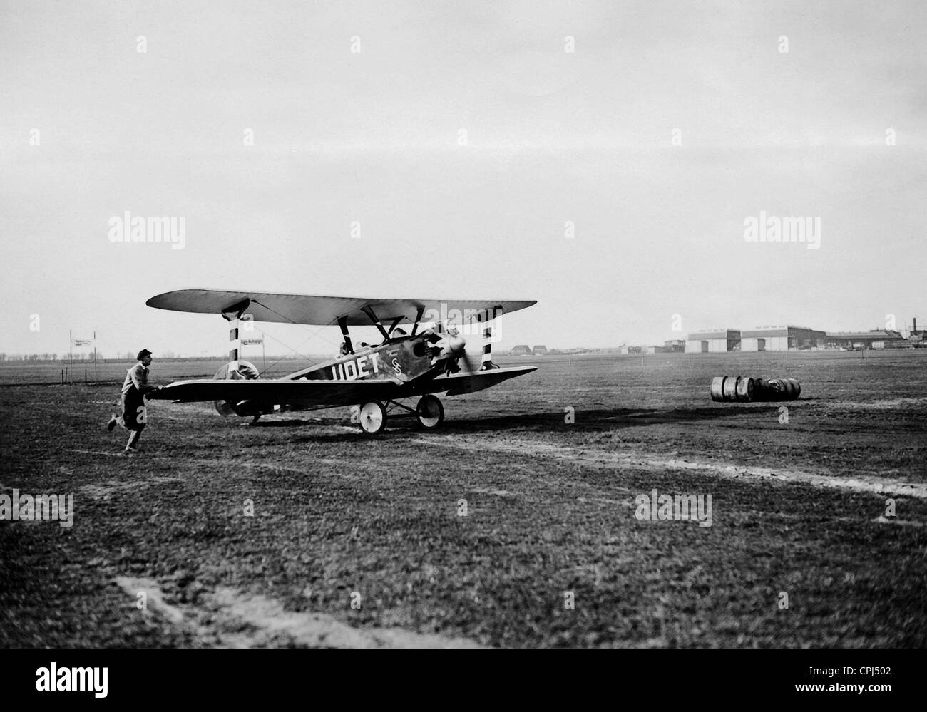 Ernst Udet at take off, 1928 - Stock Image