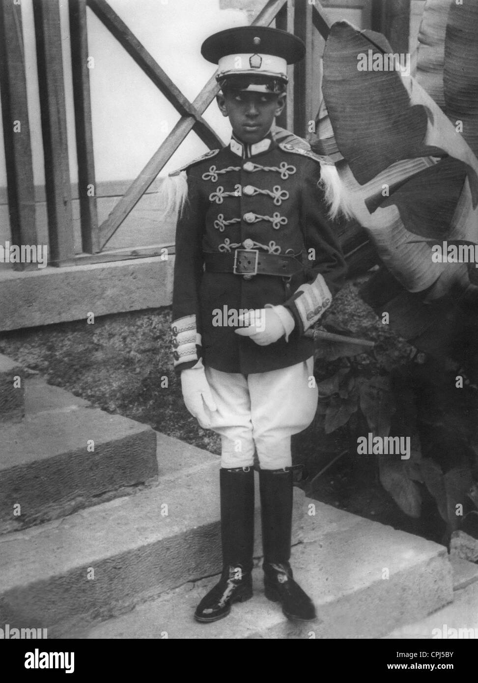 Prince Makonnen in a dress uniform - Stock Image