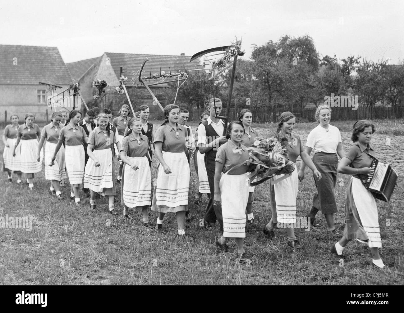 Female members of the RAD (Reich Labour Service) - Stock Image