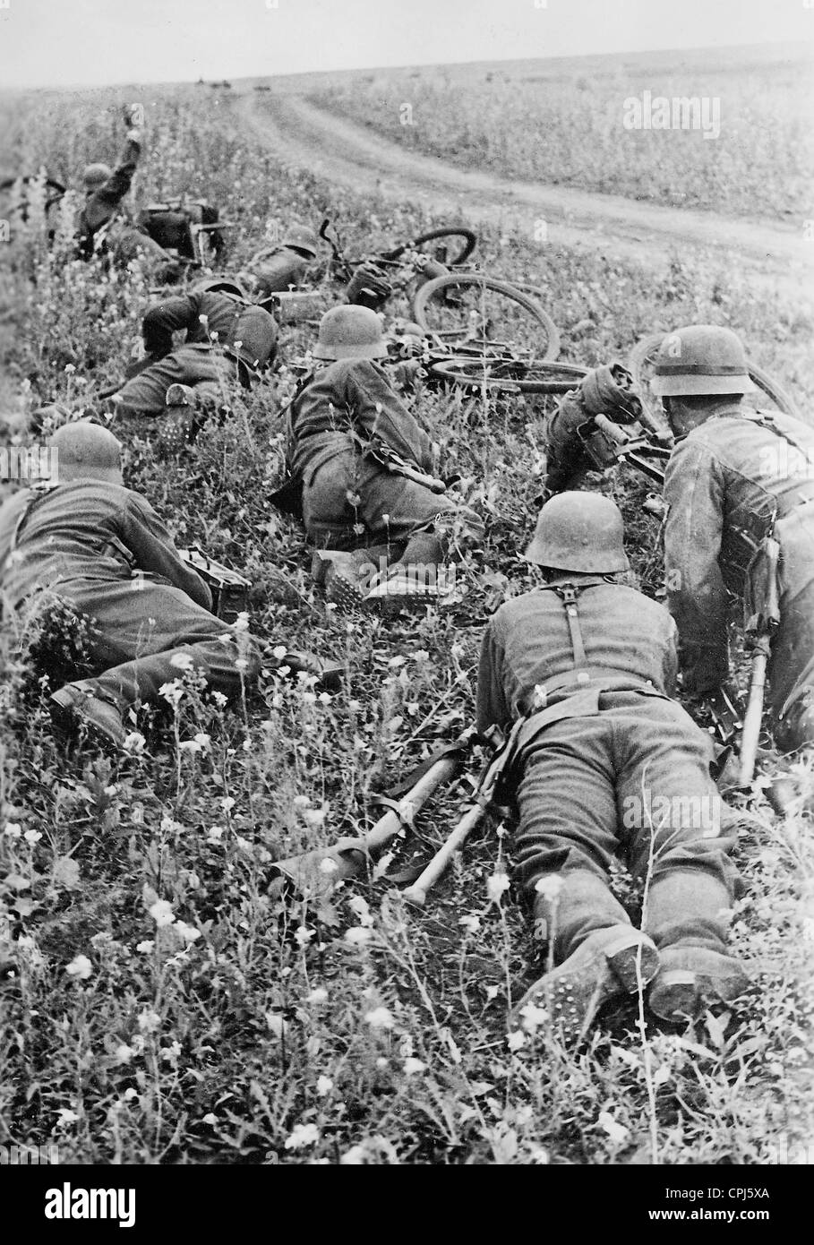 German soldiers on the Eastern front, 1942 Stock Photo