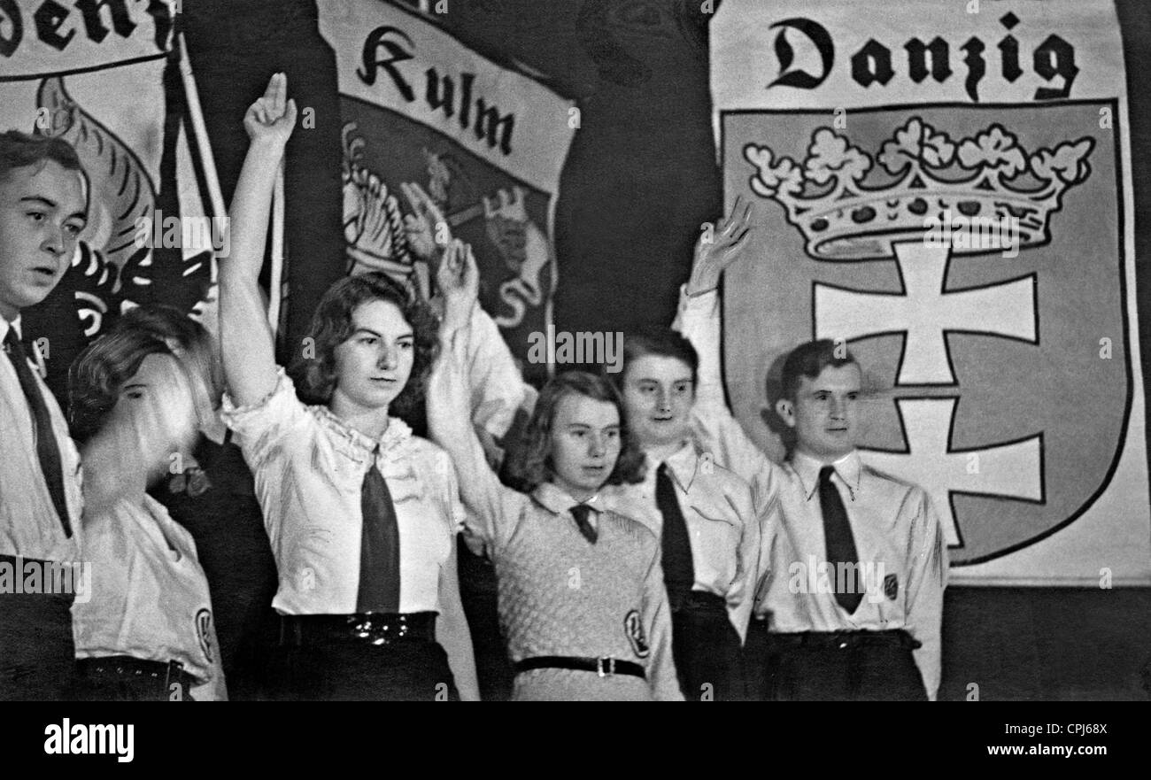 VDA youth perform a play about East Prussia, 1932 - Stock Image