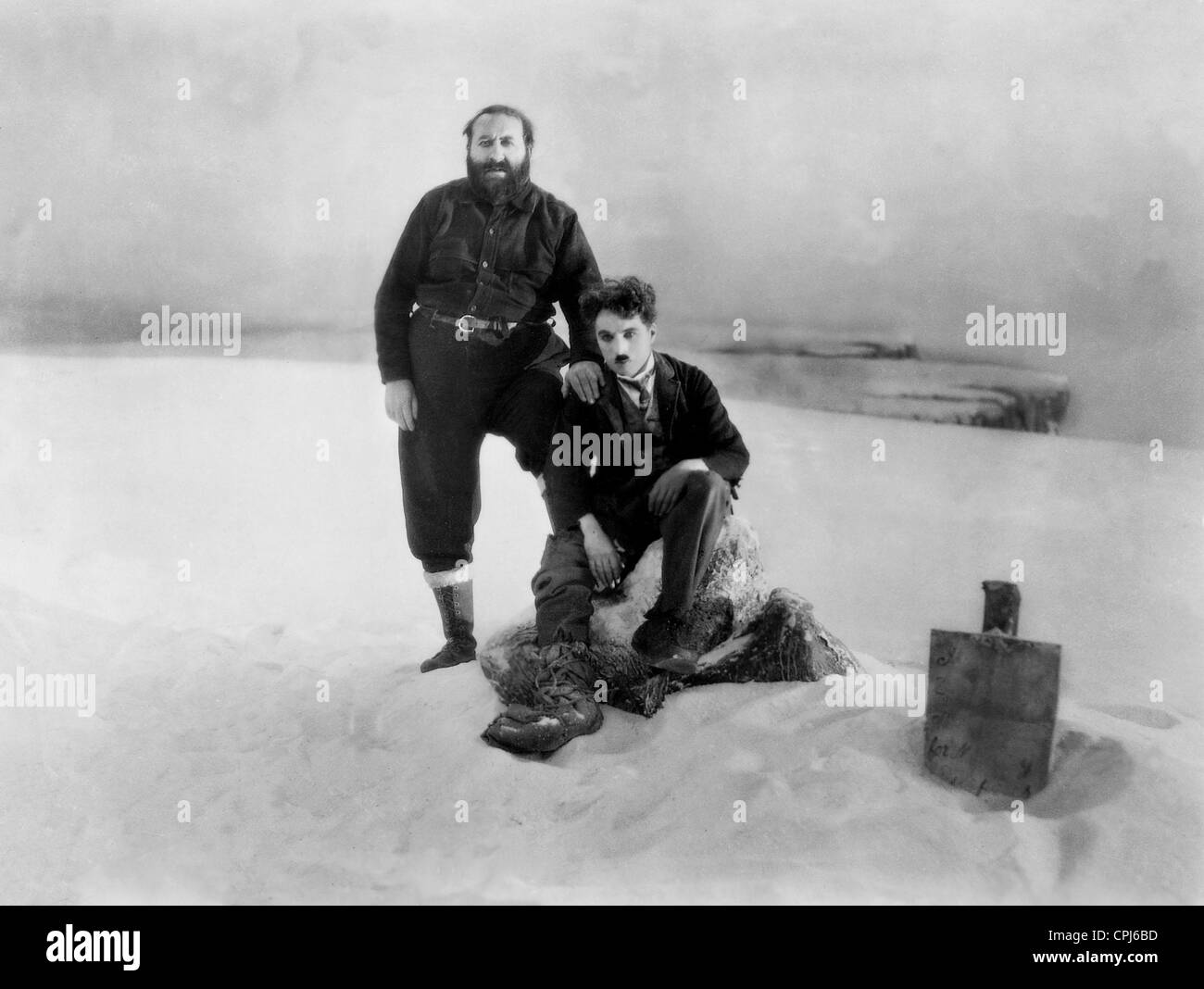 Mack Swain and Charles Chaplin in 'The Gold Rush', 1925 - Stock Image