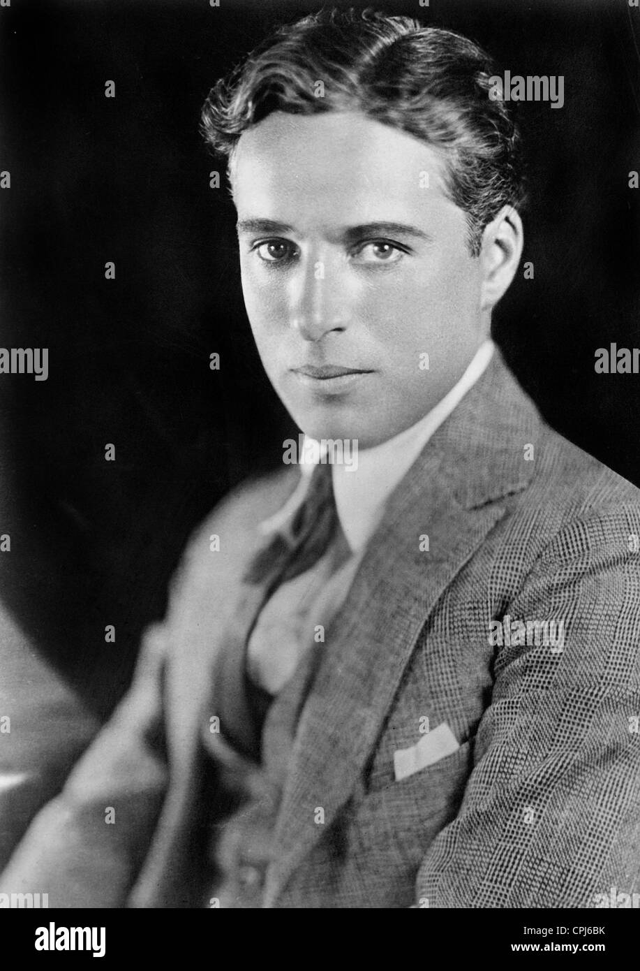 British actor and director Charles Chaplin (1889-1977). - Stock Image