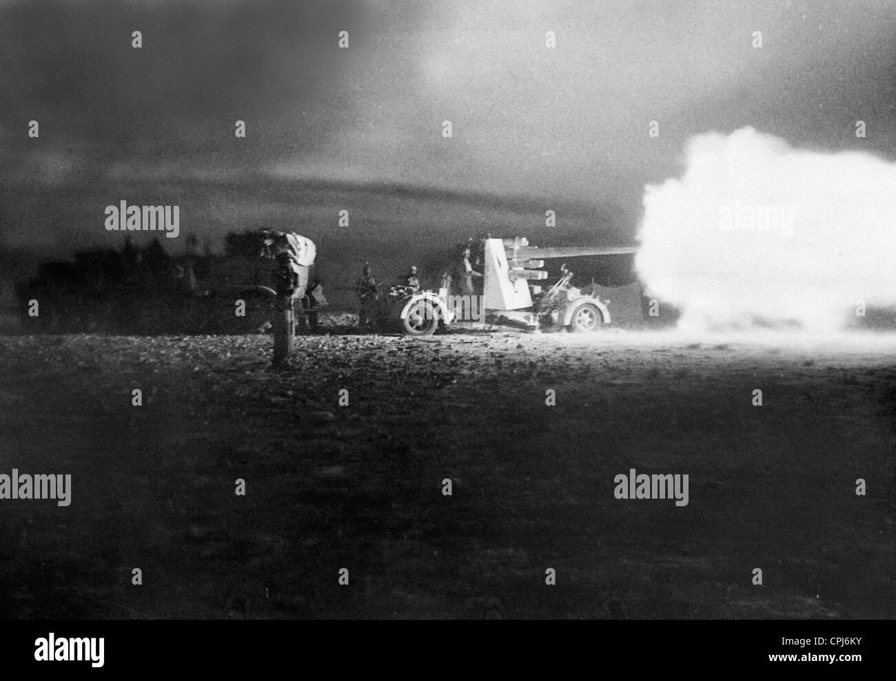 German Flak in Africa, 1942 - Stock Image
