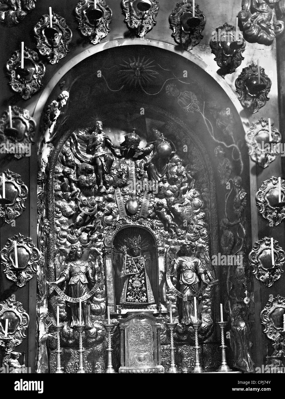 Black Madonna of Altoetting - Stock Image