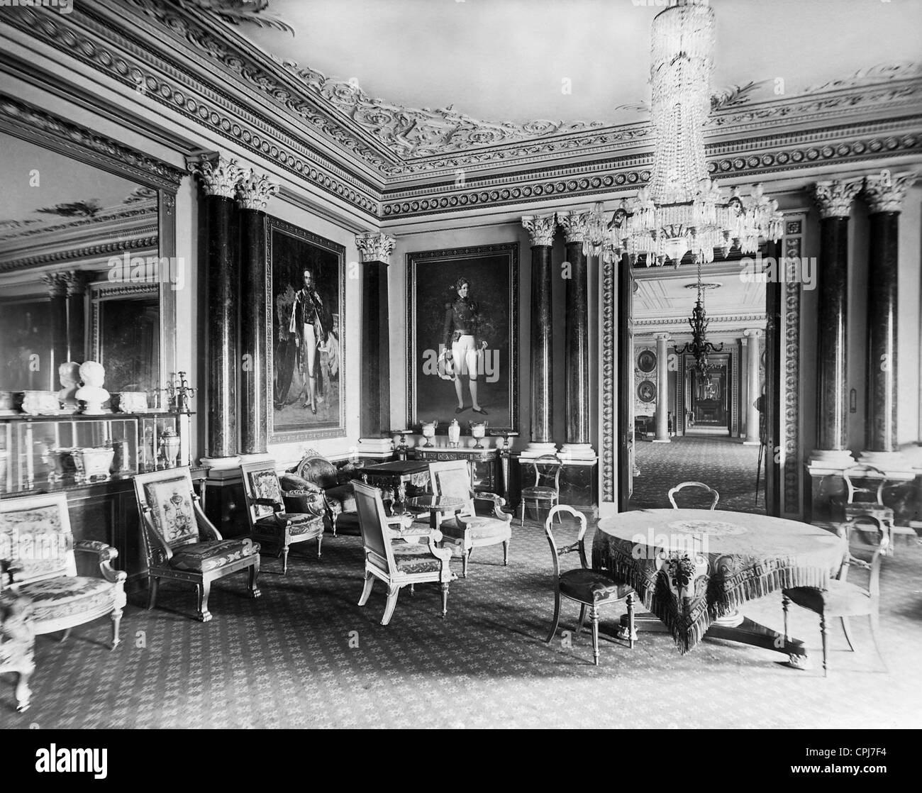 Inside View Of The Buckingham Palace, 1911   Stock Image