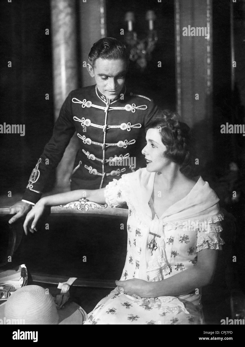 Ernst Deutsch and Lili Darvas in 'Olympia', 1928 - Stock Image