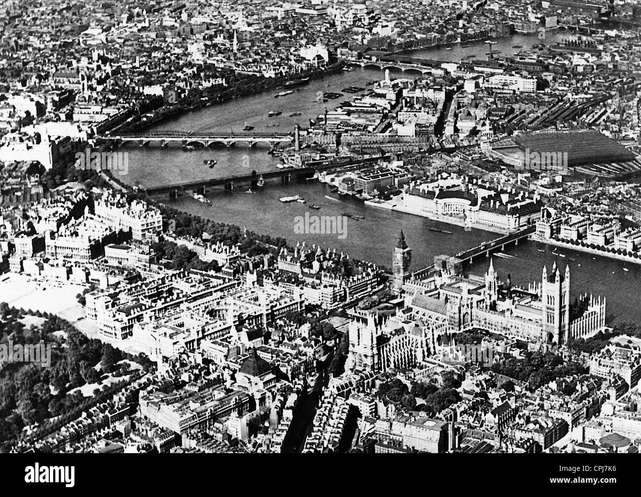 City view of London - Stock Image