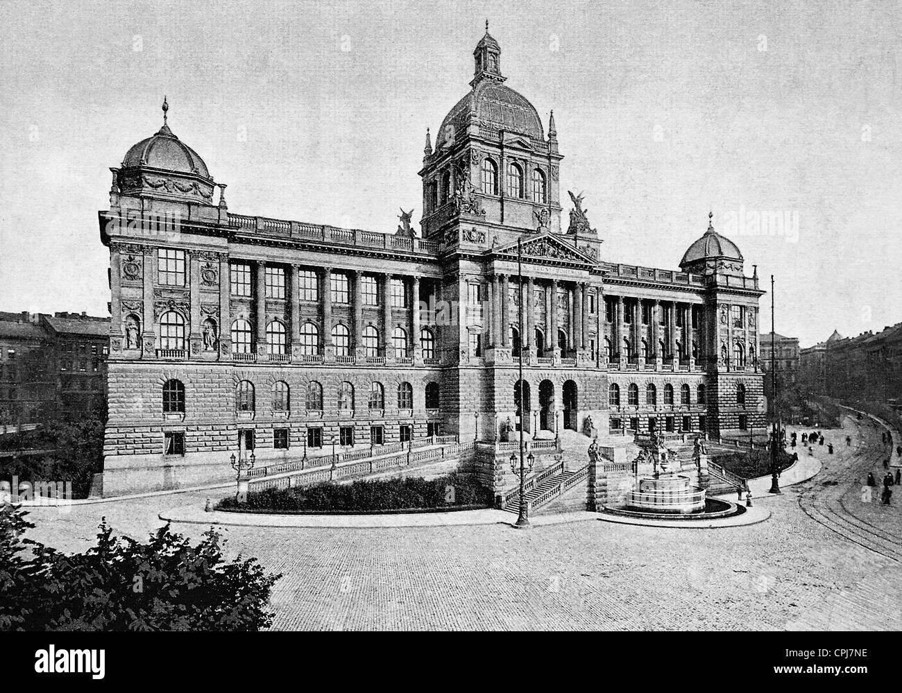 The Bohemian National Museum in Prague - Stock Image
