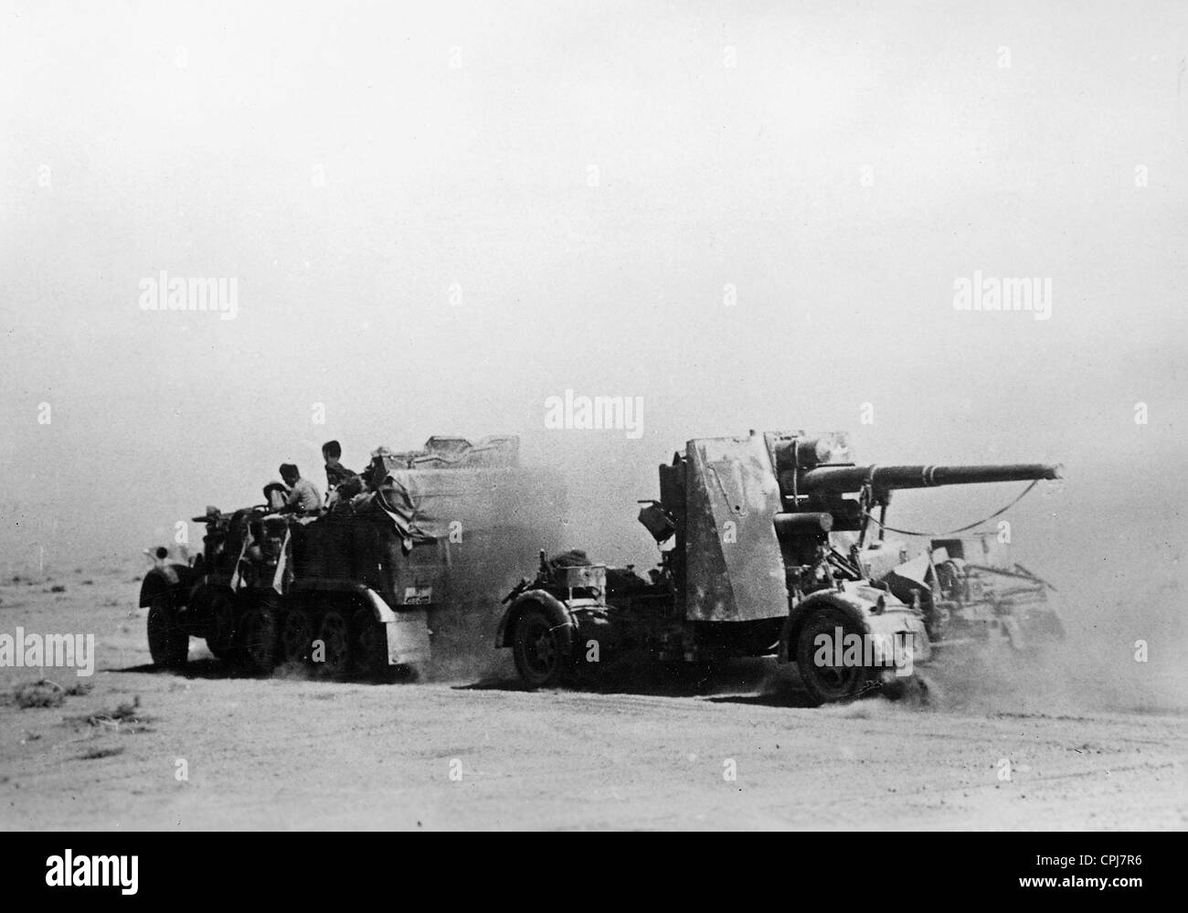 German 8.8cm Flak in North Africa, 1942 - Stock Image