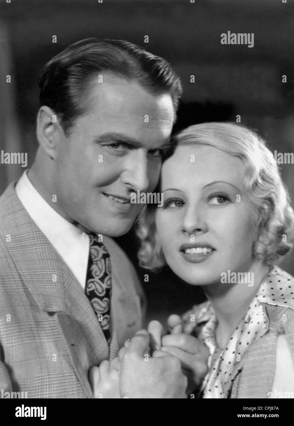Paul Richter and Dorit Kreysler in 'Maiden vs. Monk', 1934 - Stock Image