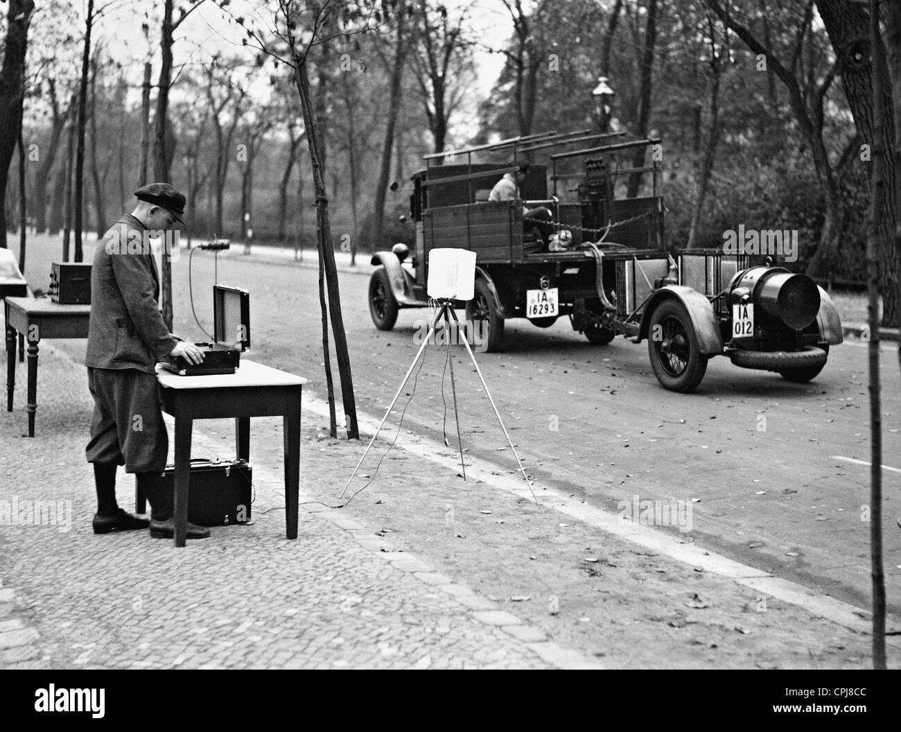 Traffic noise measurement, 1934 Stock Photo: 48344924 - Alamy