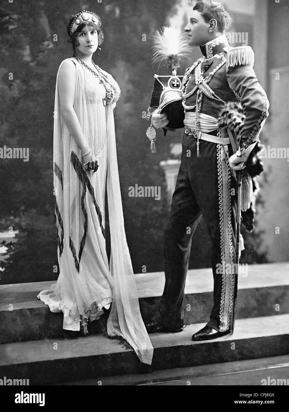Ms Lorrain and Prince Radziwill, 1912 - Stock Image