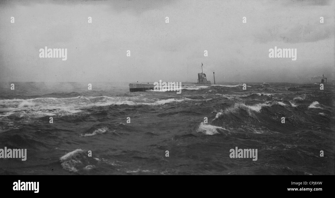 German submarine U-12, 1912 - Stock Image