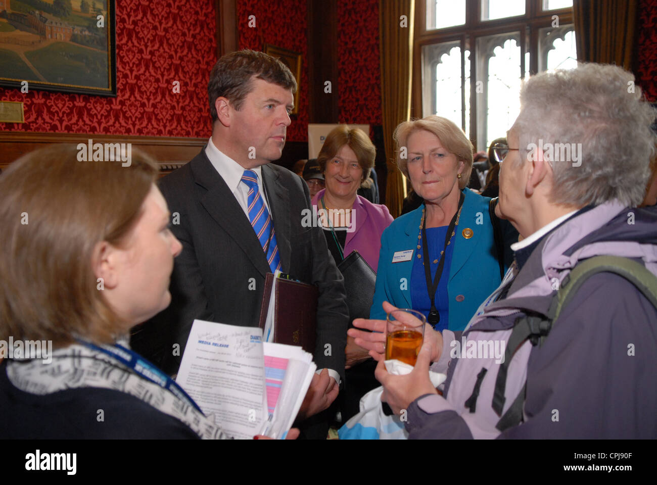 MP Paul Burstow at Houses of Palriament listening to delegates at a Diabetes lobby day, London, UK. - Stock Image