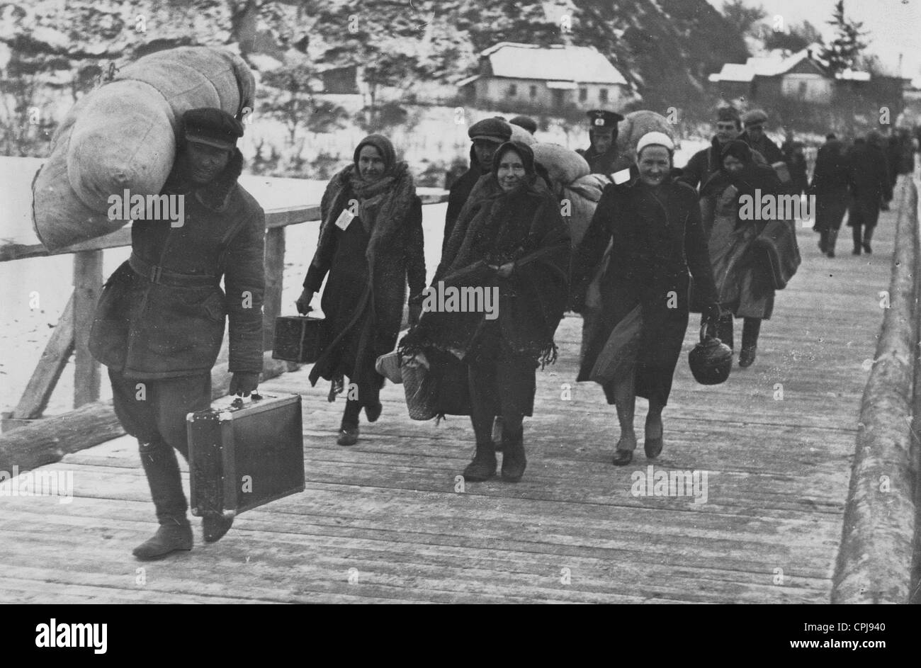 Ethnic Germans from Eastern Poland, 1940 - Stock Image