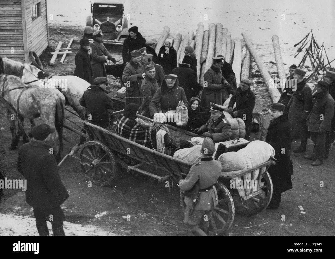 Volhynia Germans immigrate to Germany, 1939 - Stock Image