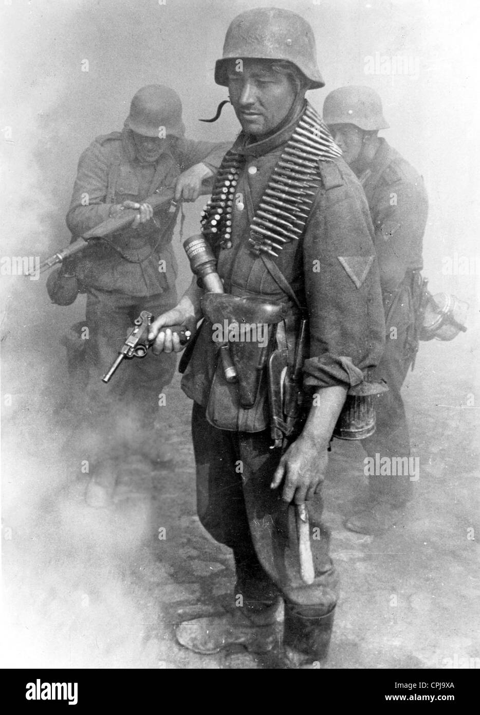 German Infantry in Combat on Crimea, 1942 Stock Photo