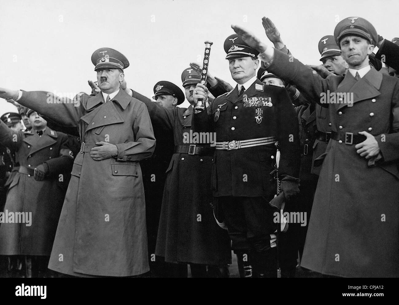Image result for dr. paul joseph goebbels and adolf hitler