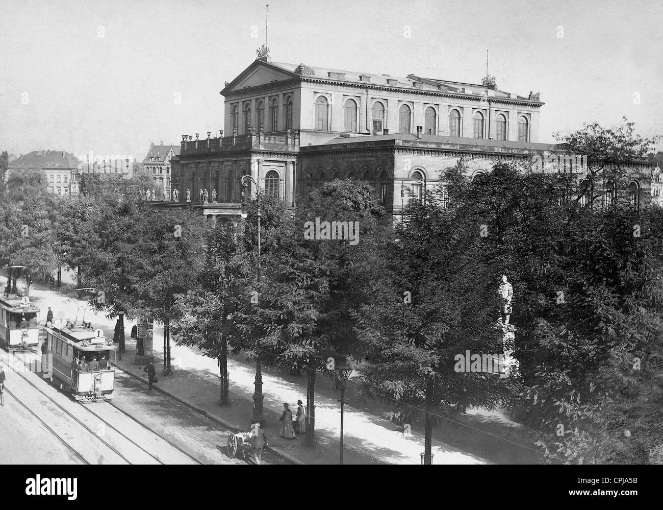 Court Theater in Hannover, 1911 - Stock Image