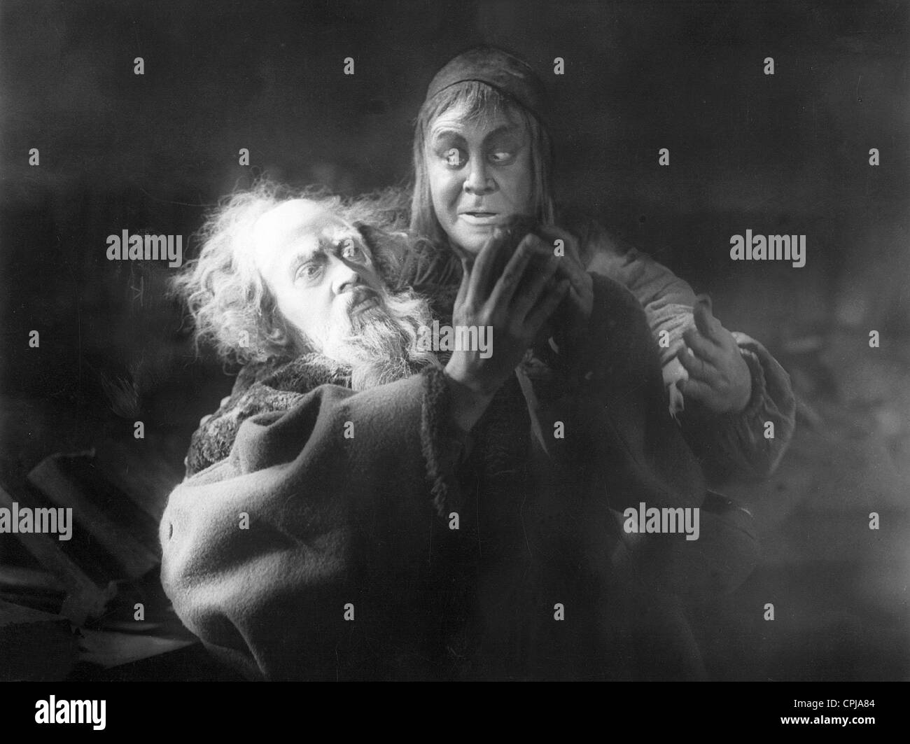 Gosta Ekman and Emil Jannings in 'Faust', 1926 - Stock Image