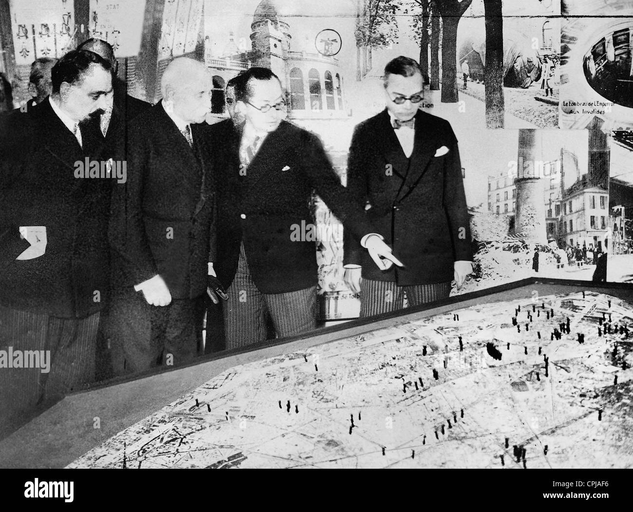 Marshal Henri Philippe Petain at the Parisian Exhibition of War, 1935 - Stock Image