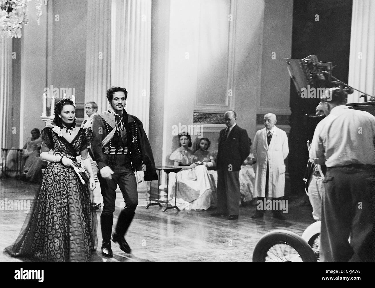 Lida Baarova at the shooting of 'A Prussian Love Story', 1938 - Stock Image