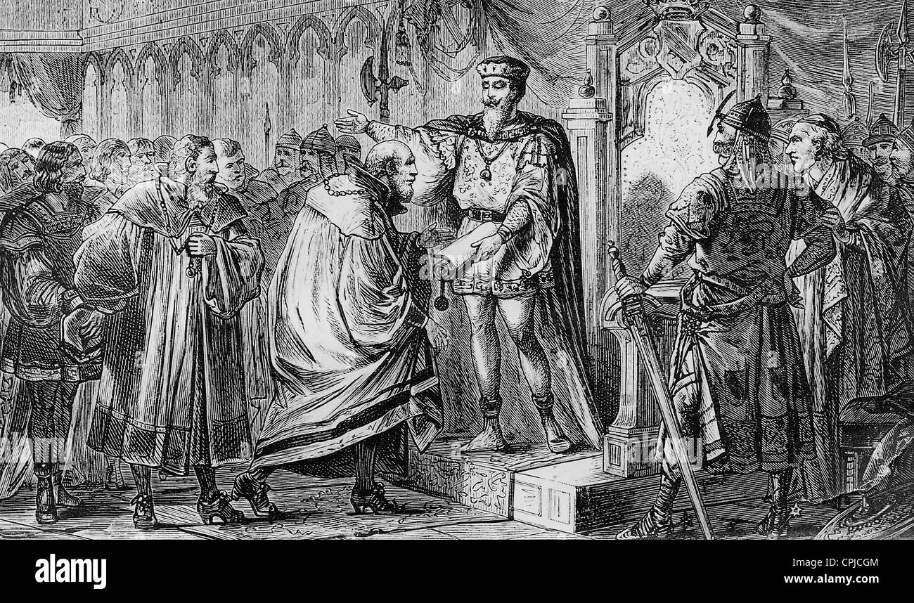 Endowing municipal law by Duke Leopold VI, 1221 - Stock Image