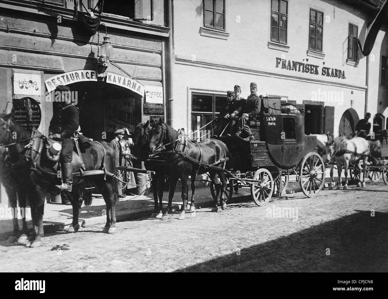 Field postal carriage of the royal and imperial Habsburg army, 1909 - Stock Image