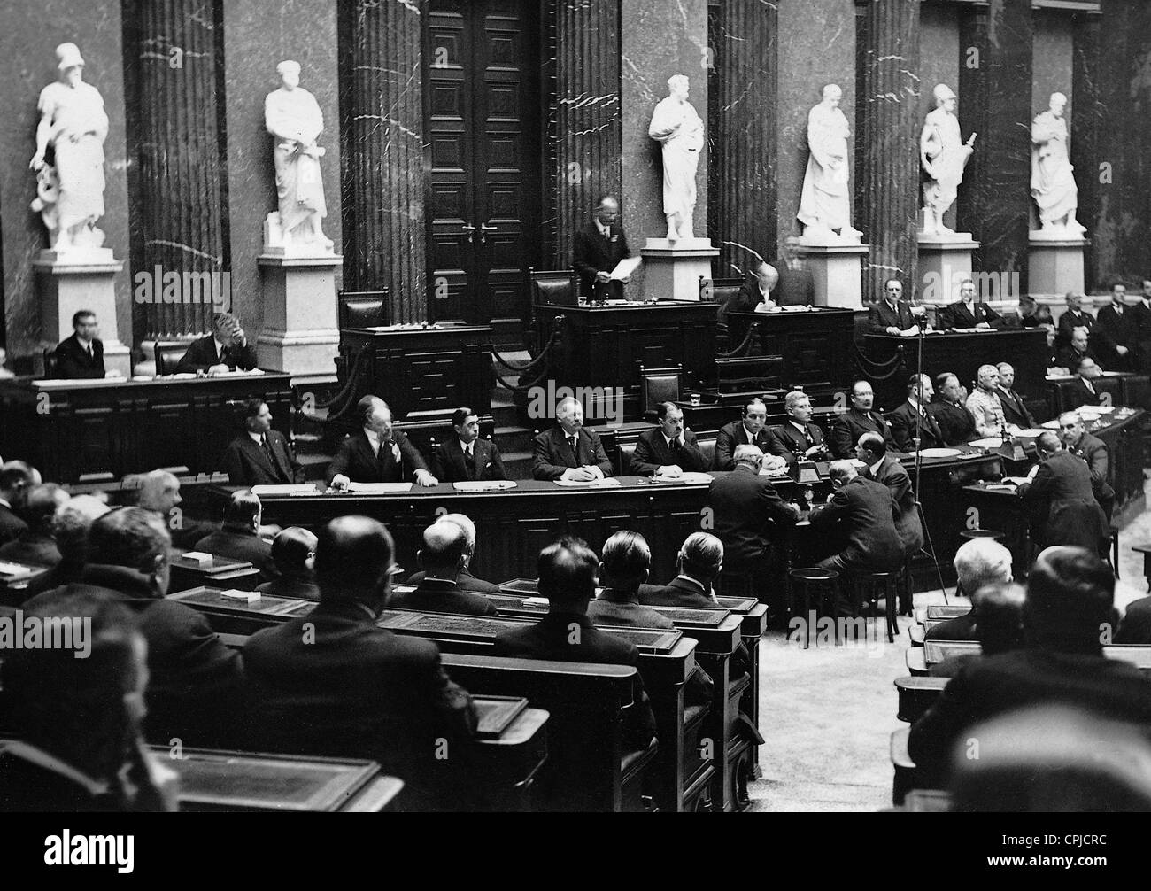 Opening session of the Austrian Bundestag, 1934 - Stock Image