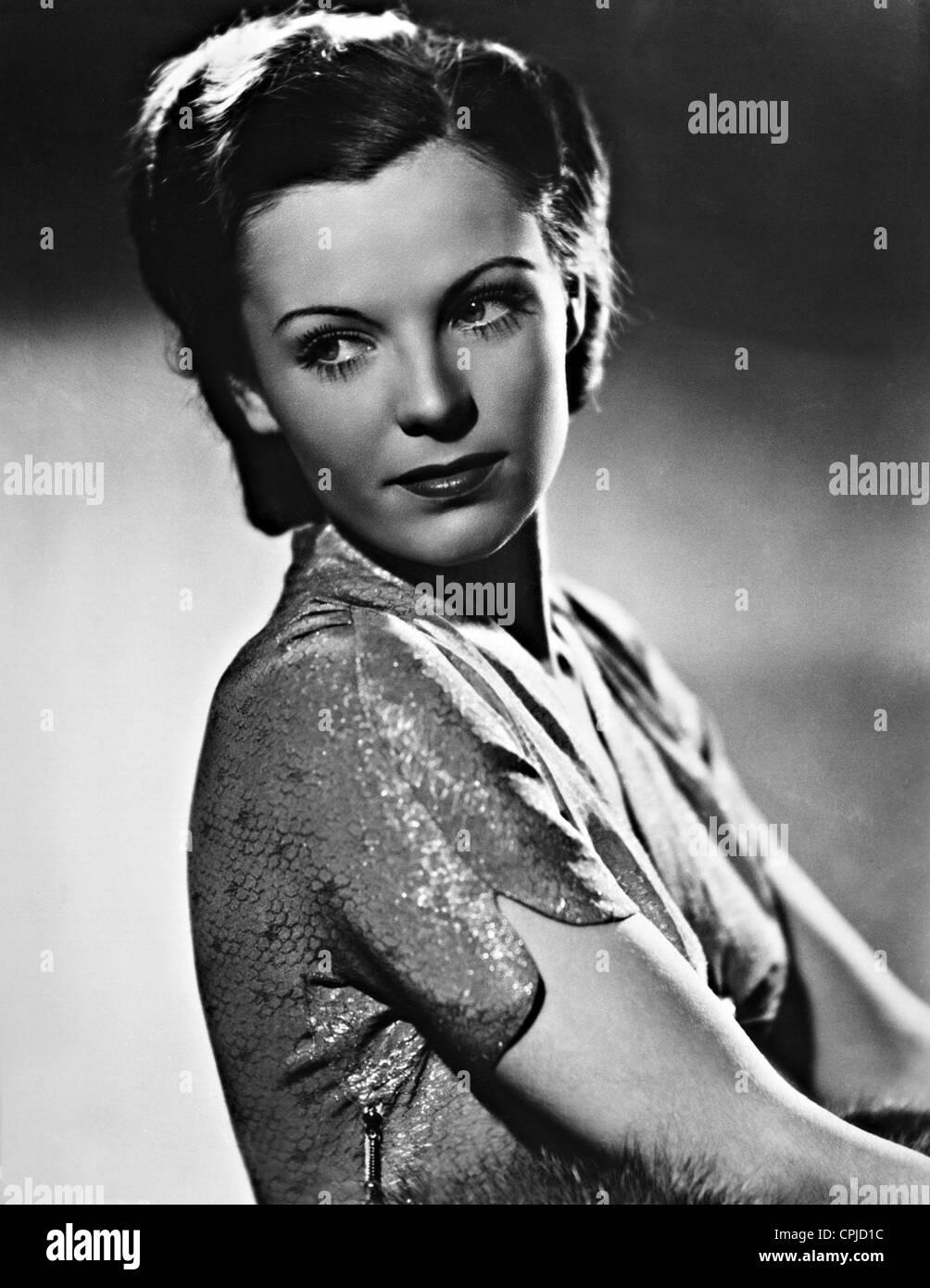 Hilde Krahl in 'Gastspiel im Paradies', 1938 - Stock Image