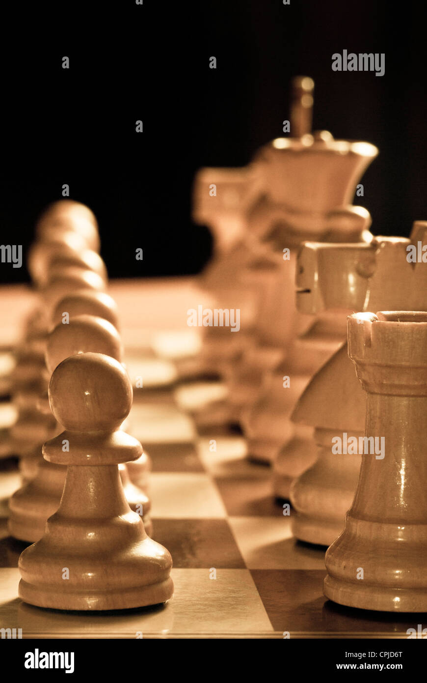 chess pieces on the chessboard Stock Photo