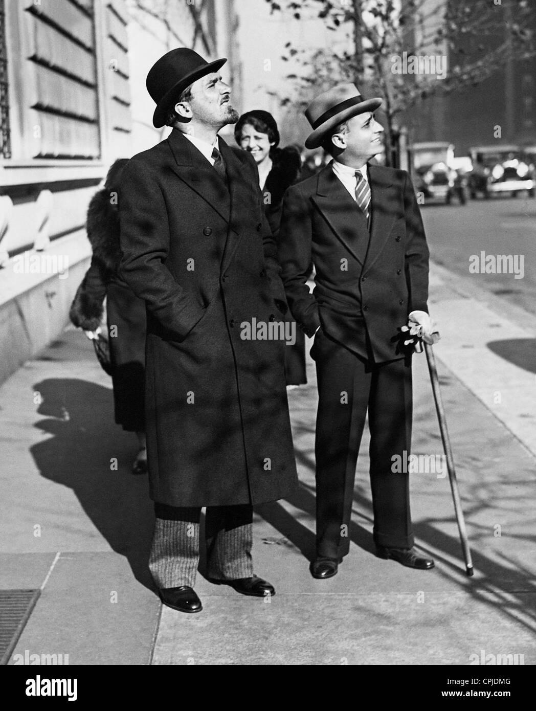 Dino Grandi and Leonard Vitetti in New York, 1931 - Stock Image