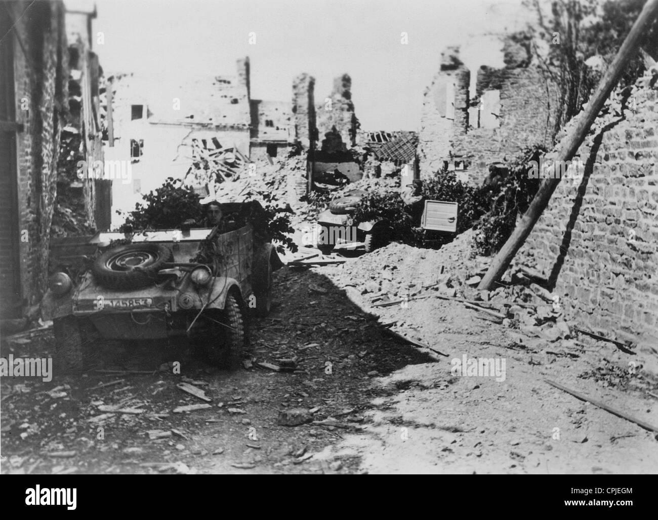 VW Kuebelwagen in Normandy, 1944 - Stock Image
