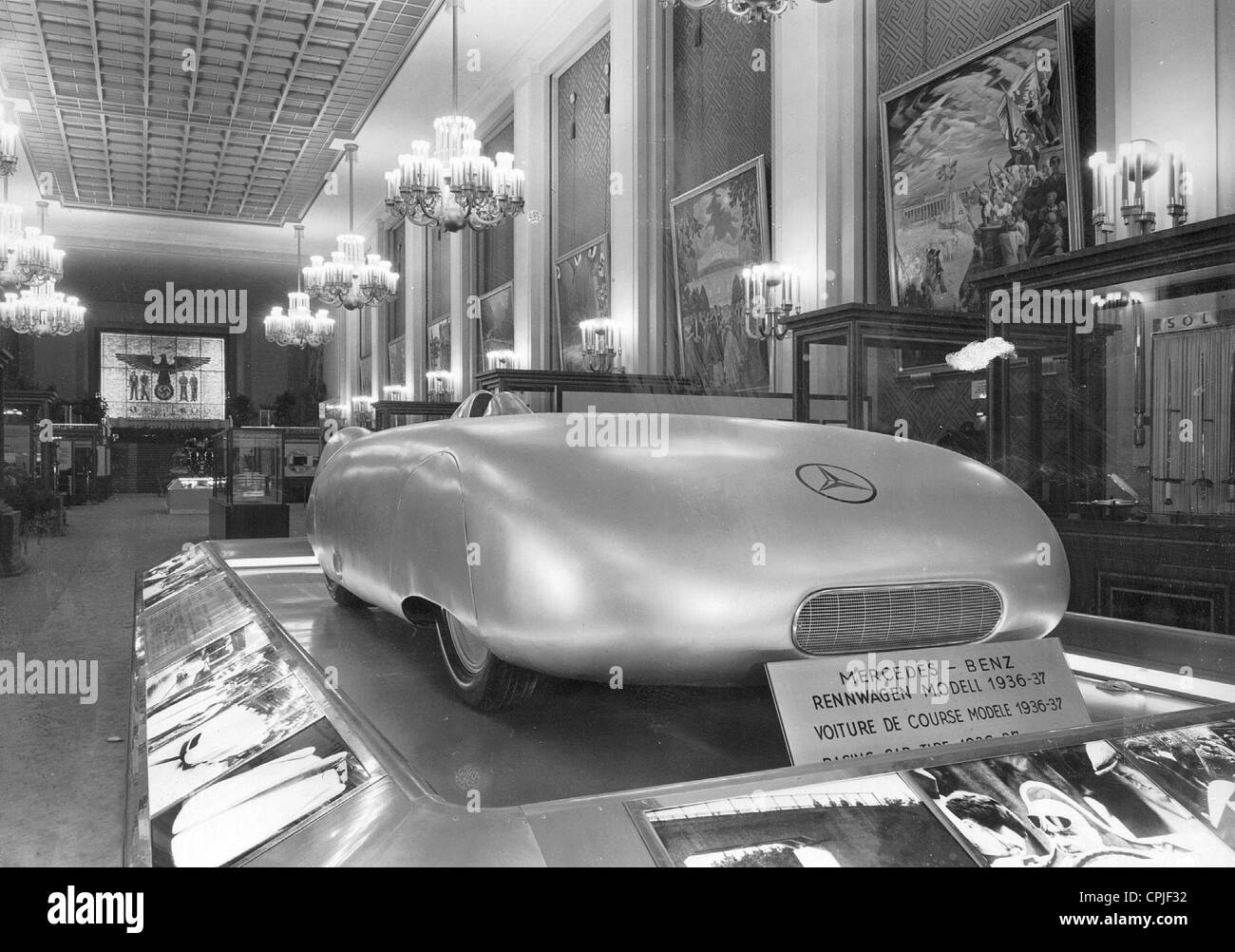 Mercedes-Benz racing car model 1936/37 - Stock Image