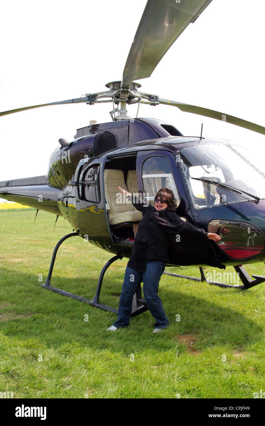 amusing jokey helicopter picture - Stock Image