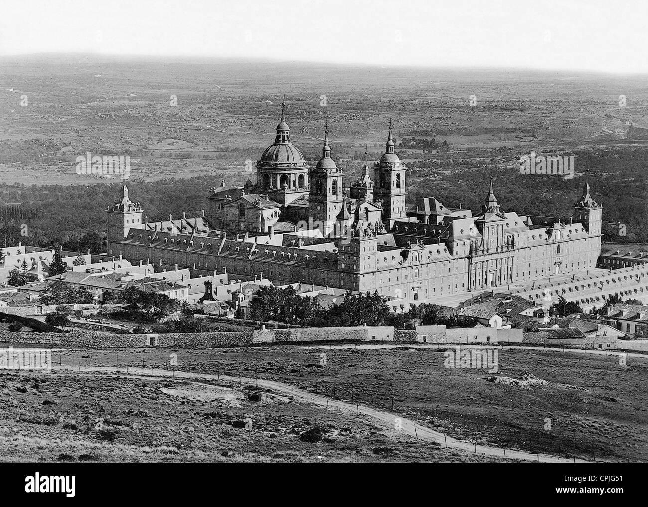 Monastery of El Escorial, 1899 Stock Photo