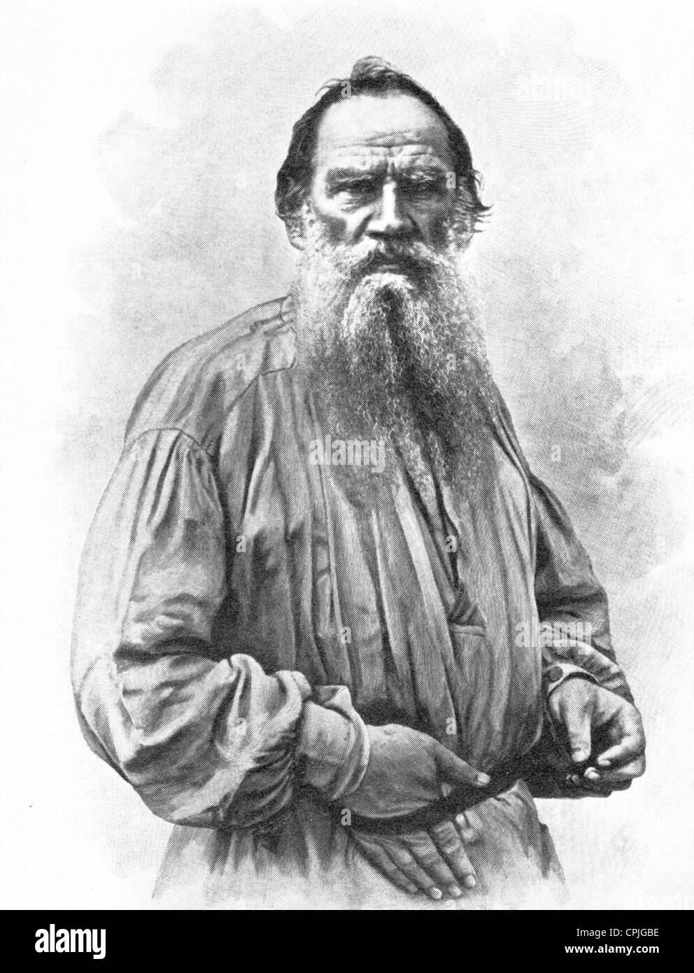 LEO TOLSTOY (1828-1910) Russian writer - Stock Image