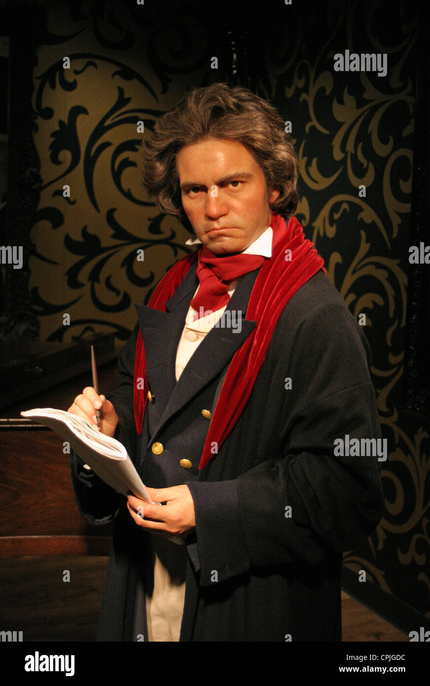 A wax figure of Ludwig van Beethoven in the wax works Madame Tussauds, Berlin, Germany - Stock Image