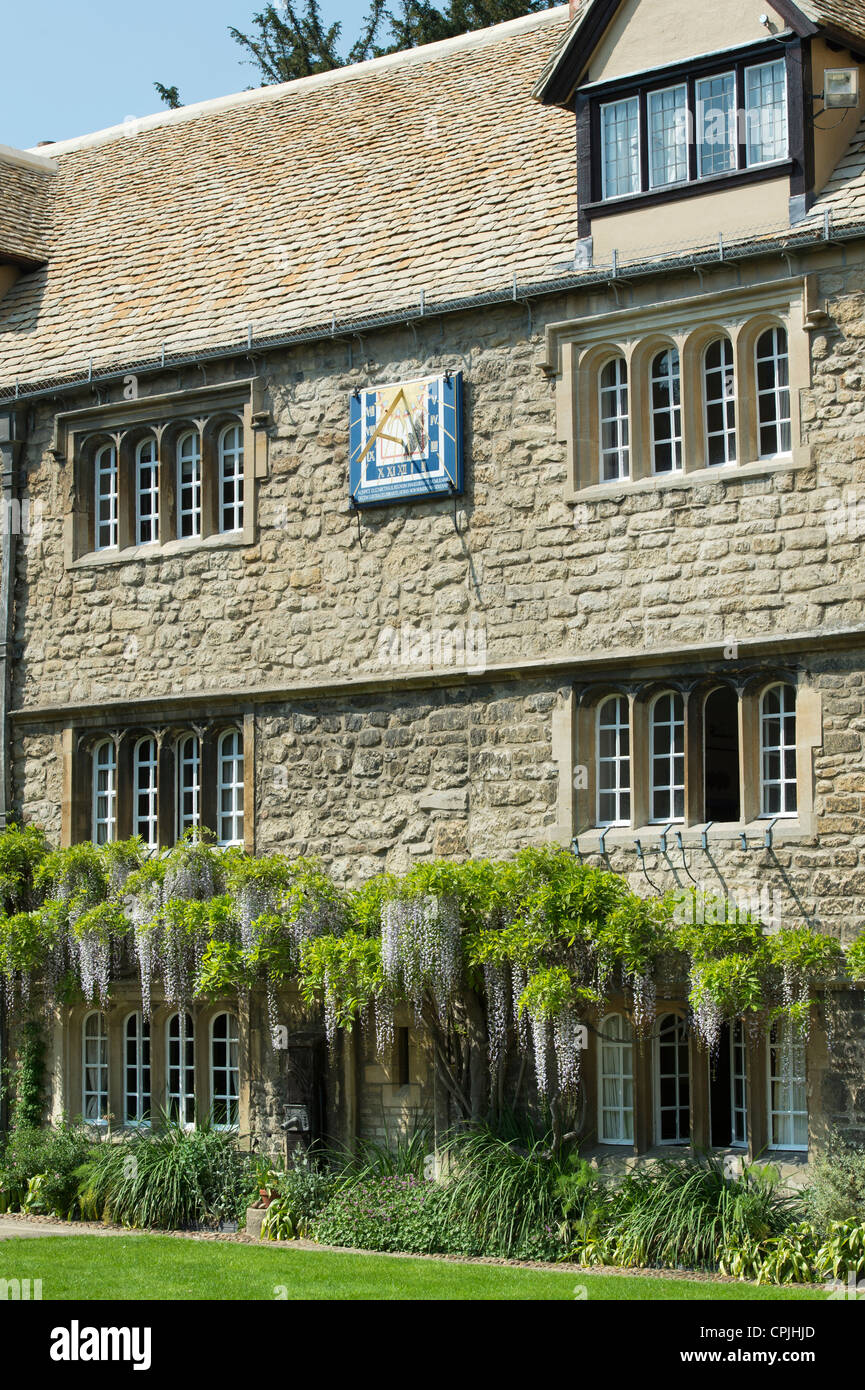 Jesus College Oxford University, Principals Lodgings. Oxfordshire, England Stock Photo