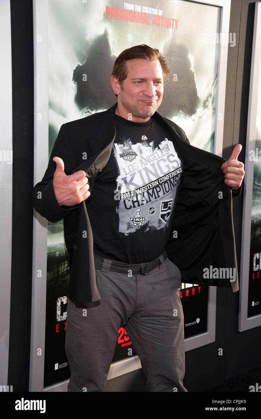 Dimitri Diatchenko arrives at the Special Fan Screening of Chernobyl Diaries at the Cinerama Dome in Hollywood. - Stock Image