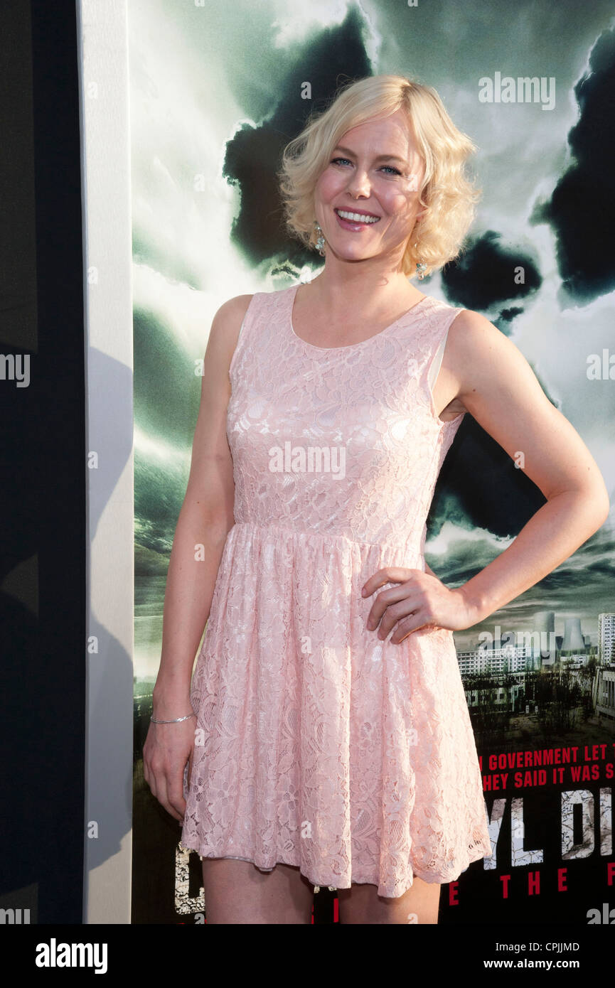 Ingrid Bolso Berdal arrives at the Special Fan Screening of Chernobyl Diaries at the Cinerama Dome in Hollywood. - Stock Image